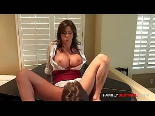 Mommy needs to cum asap step son eats her out