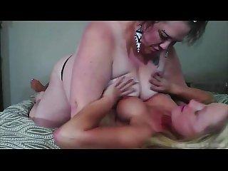 White booty beauty JJ fucks an inked lesbian lady