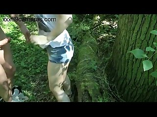 Amateur couple fuck in the forest out 0