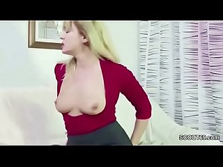 He Caught Step-Mom Masturbate and Seduce Her To Fuck