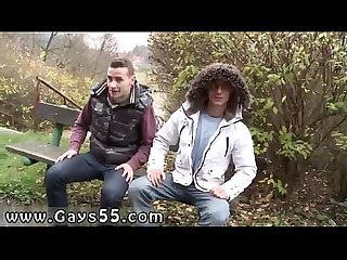 Older gay bareback outdoor two sexy amateur studs fucking in public
