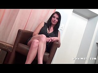 French milf bitch cristale make a casting to have her 1st porn experience sexy