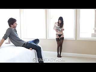 HD - FantasyHD Teen Emily Grey fucks with black thigh highs