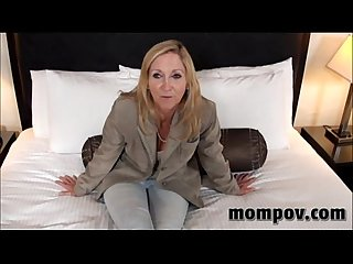 Big tit blonde milf fucking a young cock