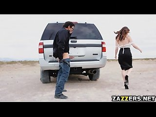 Jenna j ross sucks tommy gunn S hard cock outdoor