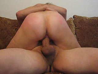 Sexy milf wife riding cock and loving it