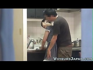 Asian fucked in kitchen