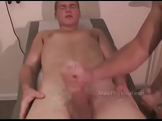 Dad and son Physical dad jerking son