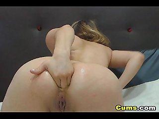 Webcam girl anal dildo fucking