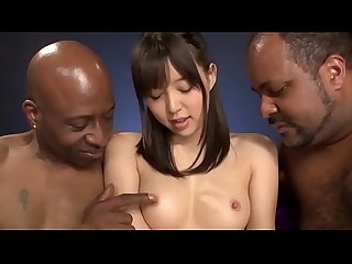 Asian girl Aoi Tsukasa interracial fucking 2 big black cock