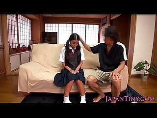 Tiny japanese schoolgirl clit stimulated
