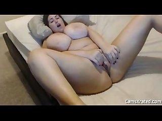Hot busty masturbation