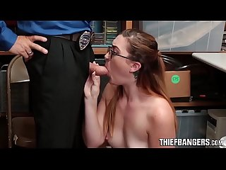 Nerdy Teen Thief Kat Monroe Spreads Her Pussy To Avoid Jail Time