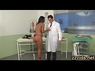 Black Angelika fucked by horny doctor