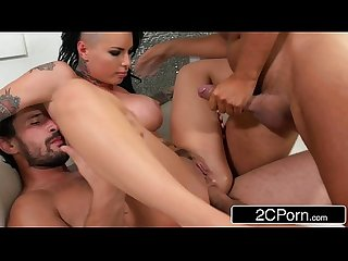 Punk Pornstar Christy Mack's First Double Penetration Scene