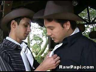 Gay cowboy Twinks in Barebacked sex