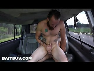 BAIT BUS - Straight Bait Latino Antonio Ferrari Gets Picked Up And Tricked Into Having Gay Sex
