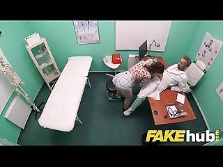 Fake hospital dirty doc stuffs his big dick into patients tight wet pussy