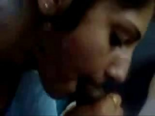 Indian couple bj in car