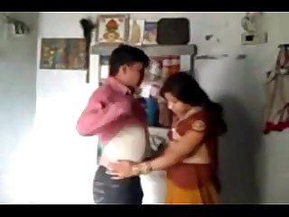 Indian wife and husband in romantic mood