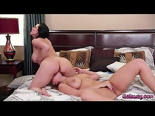 Lena Paul is pussy tribbing with Kendra Lust she goes on top rubbing off!