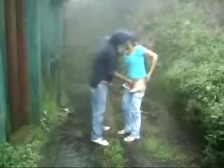 Amateur teen Couple having fun Outdoor period public nudity