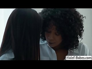 MILF ebony Misty eats Teen Asians wet pussy
