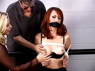 Kendra James Bound, Gagged, Tortured in a Dungeon