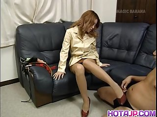 Busty yuuko enjoys cock on cam