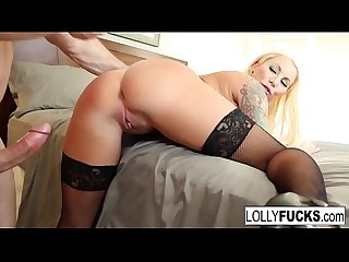 Lolly fucks her boyfriend and lets him cum inside her pussy