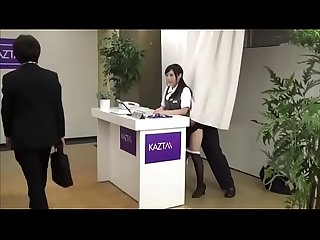 A normal day's receptionist becomes a hardsex work day [Full Video:..