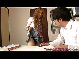 Asian schoolgirl fucking instead of studying