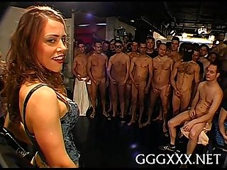 Loads of jizz during gang group sex