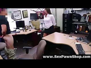Amateur milf desperate for cash in pawn shop