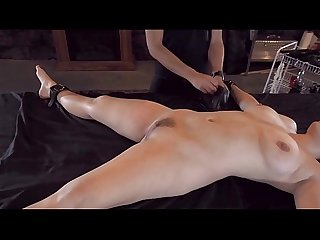 Bound hottie fuck dildo