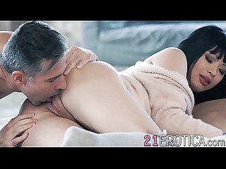 Asian babe climaxes during passionate lovemaking session
