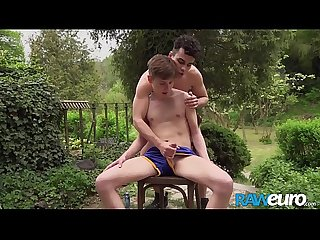 RAWEURO Jock Joel Vargas Slams Twink With Backyard Bareback