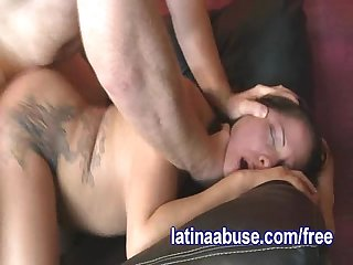 Chubby latina gets pounded by a white cock