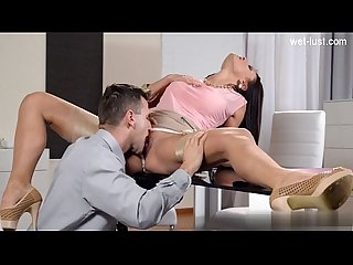 Cute model brutal gagging