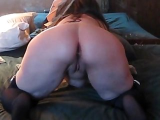 Trixxxcams.com - Chubby wife gets anal creampie on webcam