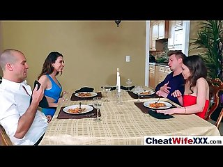 Superb wife melissa riley cheats on camera in hard style action movie 20
