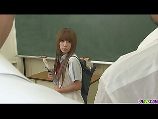Two guys fuck sana anju tight holes in class