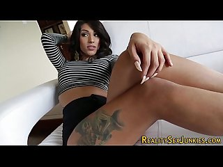 Latina shemale gets cum
