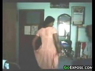 Indian girl teasing her body