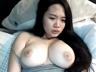 Perfect tits asian girl cum on cam
