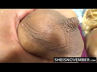 White Man Cheating On Wife With Young Ebony Msnovember Rub Big Tits Ass & Pussy HD Sheisnovember