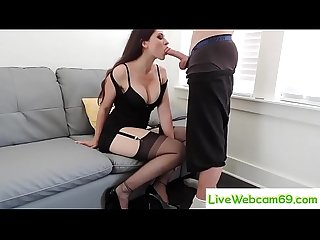 Livewebcam69 com gag blowjob from secretary