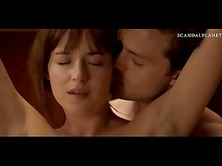 Dakota johnson tied and nude in sex scene from fifty shades of grey on scandalplanetcom