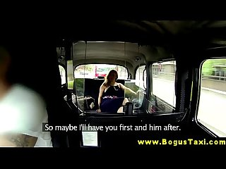 Busty euro blonde sucks her cab drivers cock