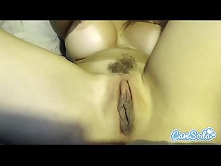 Alexis Fawx big tits MILF rubbing her pussy until massive wet orgasm.
